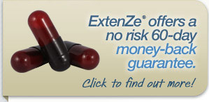 Extenze offers a no risk 60-day money-back guarantee. Click to find out more!